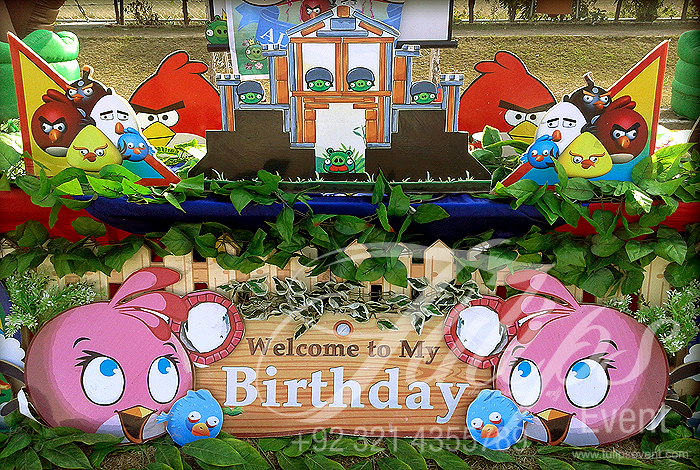 Angry birds themed birthday party ideas planner in lahore for Angry bird birthday decoration ideas