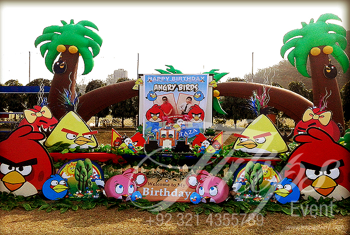 Angry birds themed birthday party ideas planner in lahore for Angry birds birthday party decoration ideas