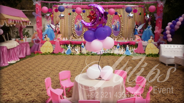 Tulips Event Best Disney Pricess Themed Birthday Party